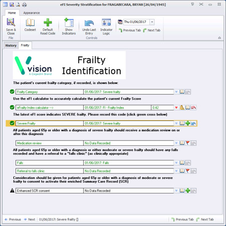 electronic frailty index calculator